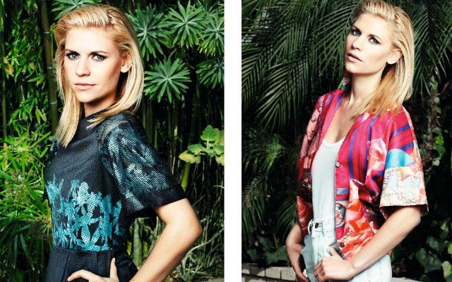 claire1 Claire Danes Metallic Smokey Eye In ASOS Magazine