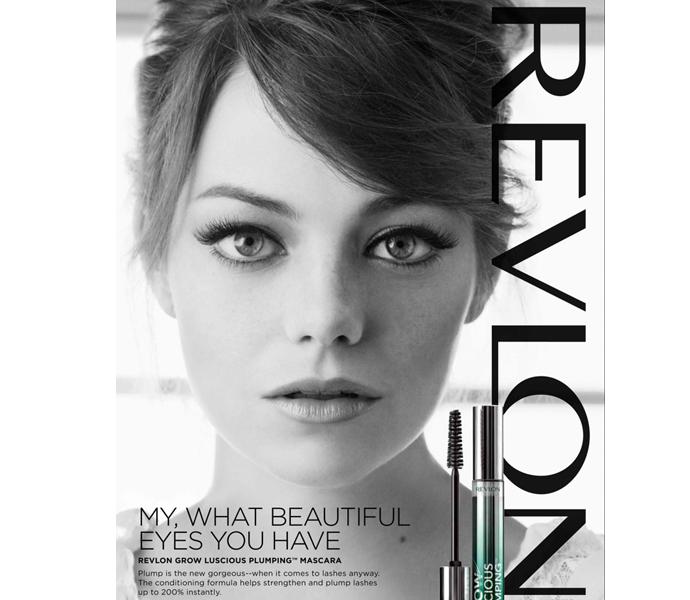 emma stone lash revlon1 Sneak Peek: Emma Stones Brand New Revlon Ads