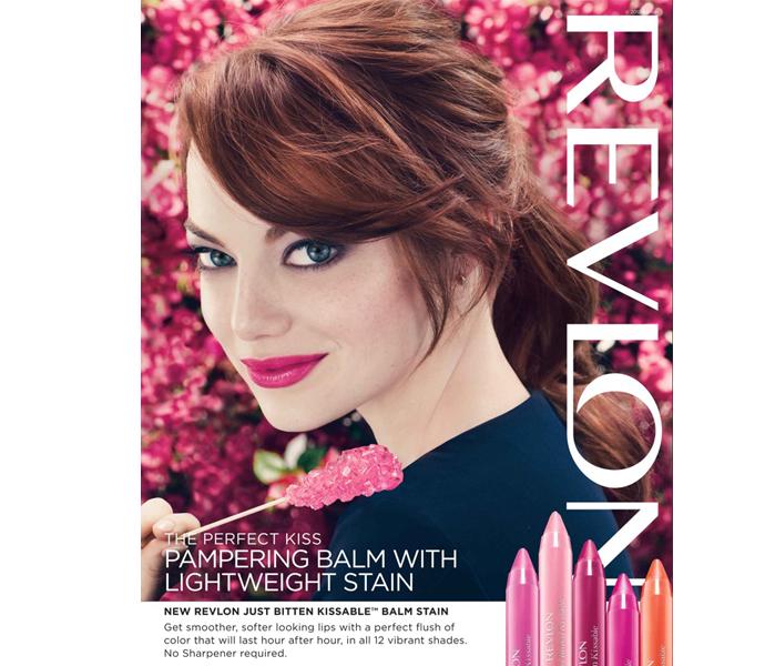 emma stone lips1 Sneak Peek: Emma Stones Brand New Revlon Ads