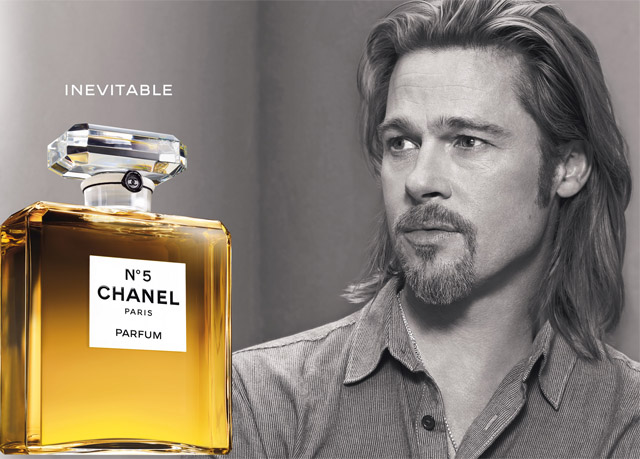 brad pitt chanel1 Brad Pitts First Chanel No.5 Campaign is Here, But We Want Something More