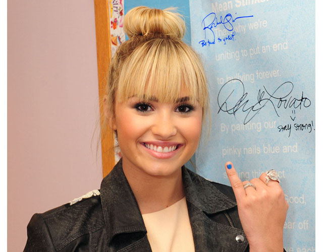 demi lovato Exclusive: Demi Lovato on Bullying, Red Lips and Simon Cowell