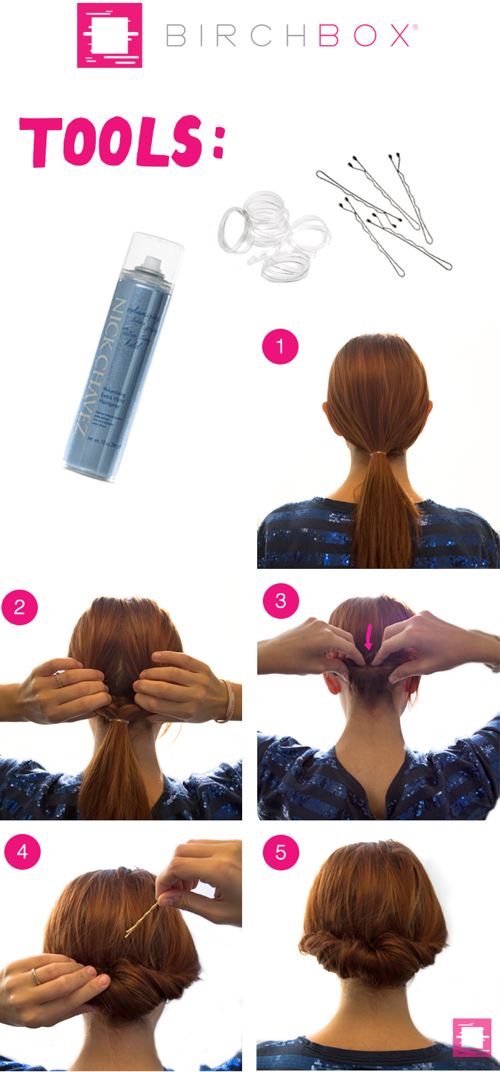 tuckandroll How to Get a Tuck and Roll Chignon Hairstyle