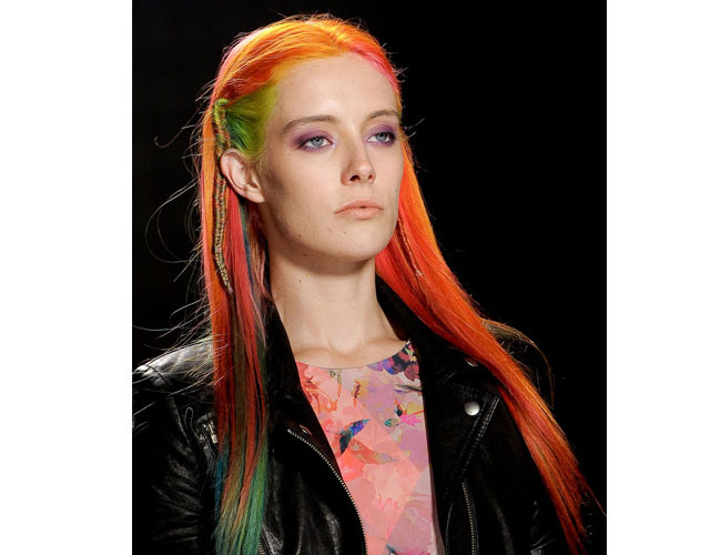Chloe Norgaard Multi-Colored Hair