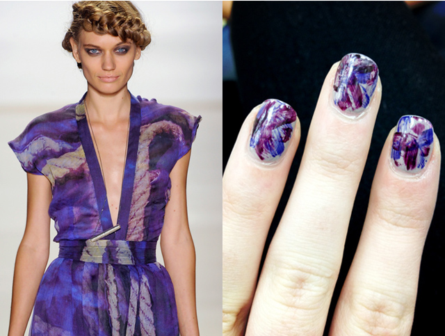 Runway-inspired nail art from the Spring 2013 runway show