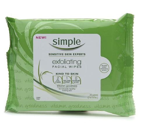 Simple Skincare Exfoliating Wipes