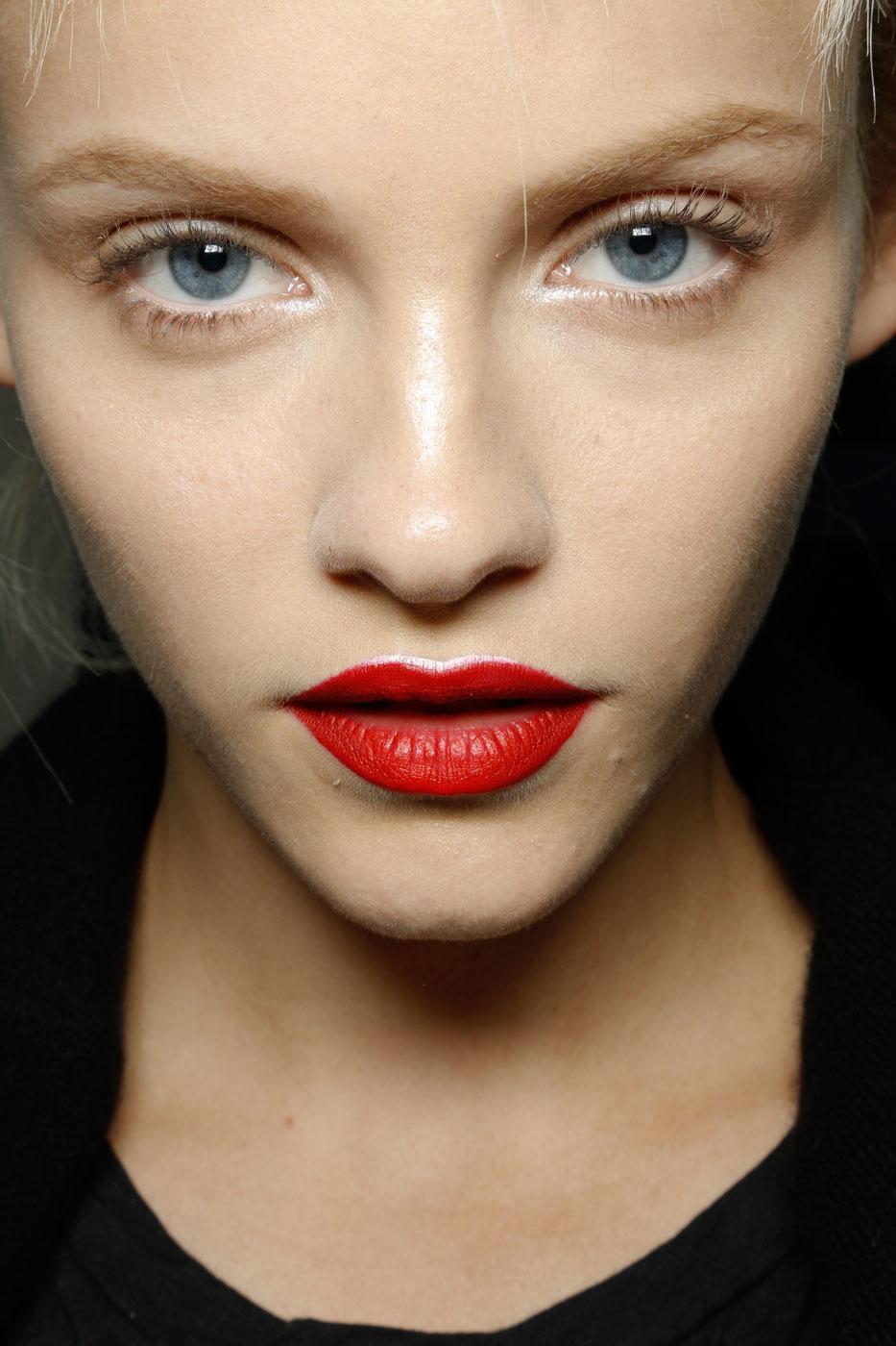 Bold Red Lipstick, Prada Fashion Week