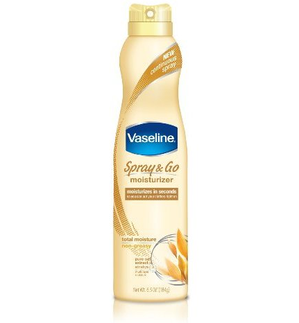 Vaseline Spray and Go Moisturizer