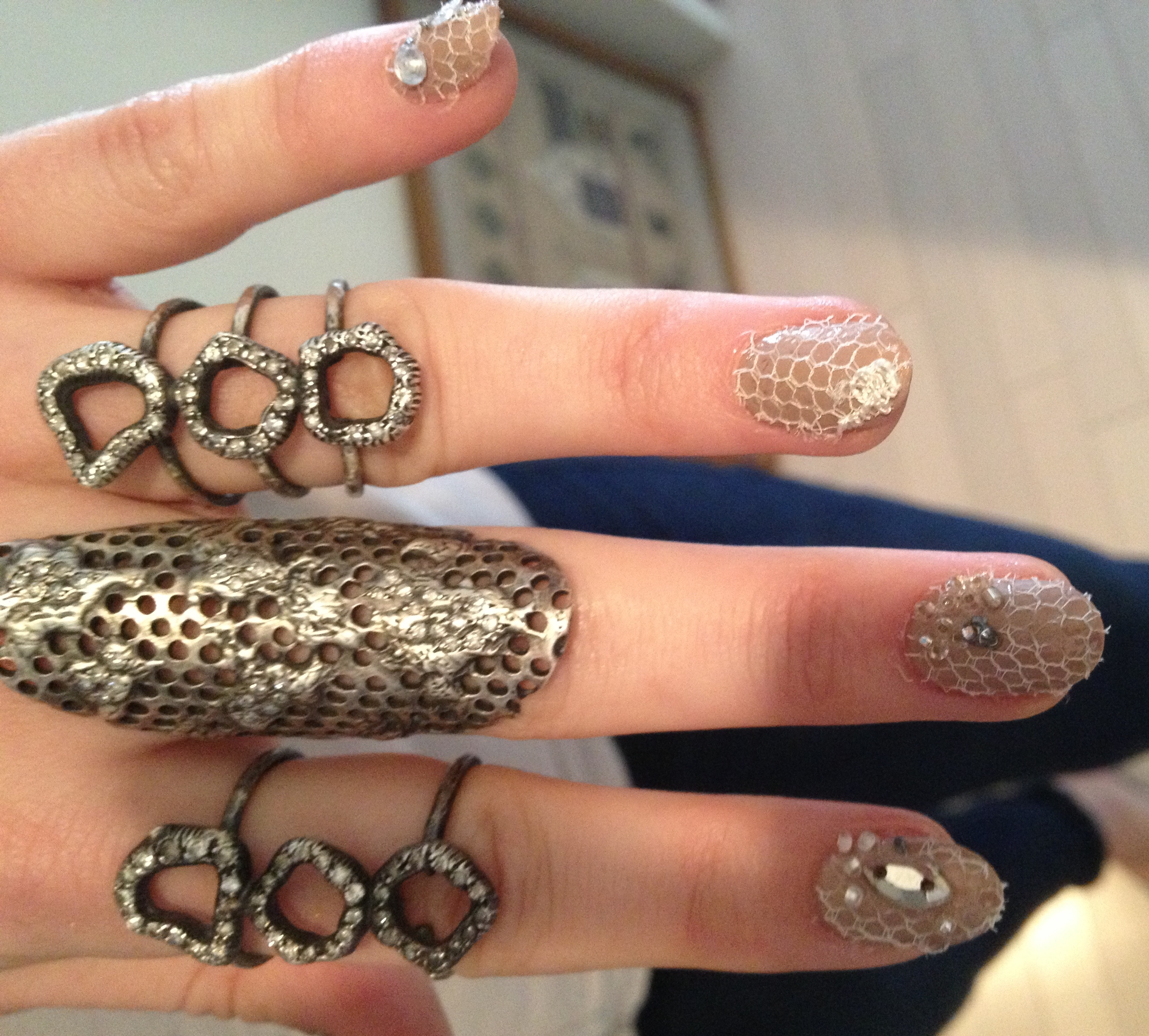 Emmy Rossum Lace Punk Nails Met Gala