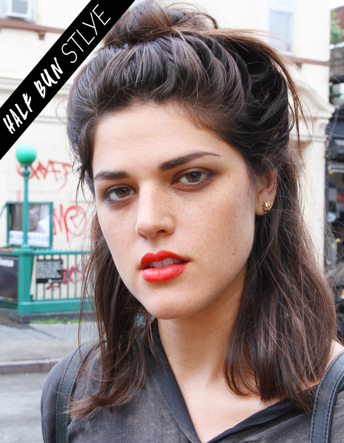 Beauty Street Style A Half Bun And A Coral Lip Stylecaster