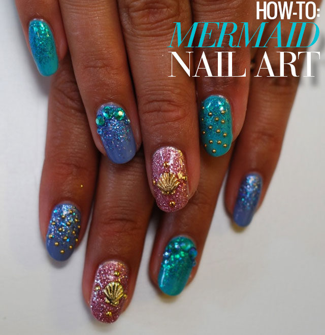 mermaid nail art diy