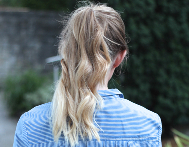 high ponytail ombre