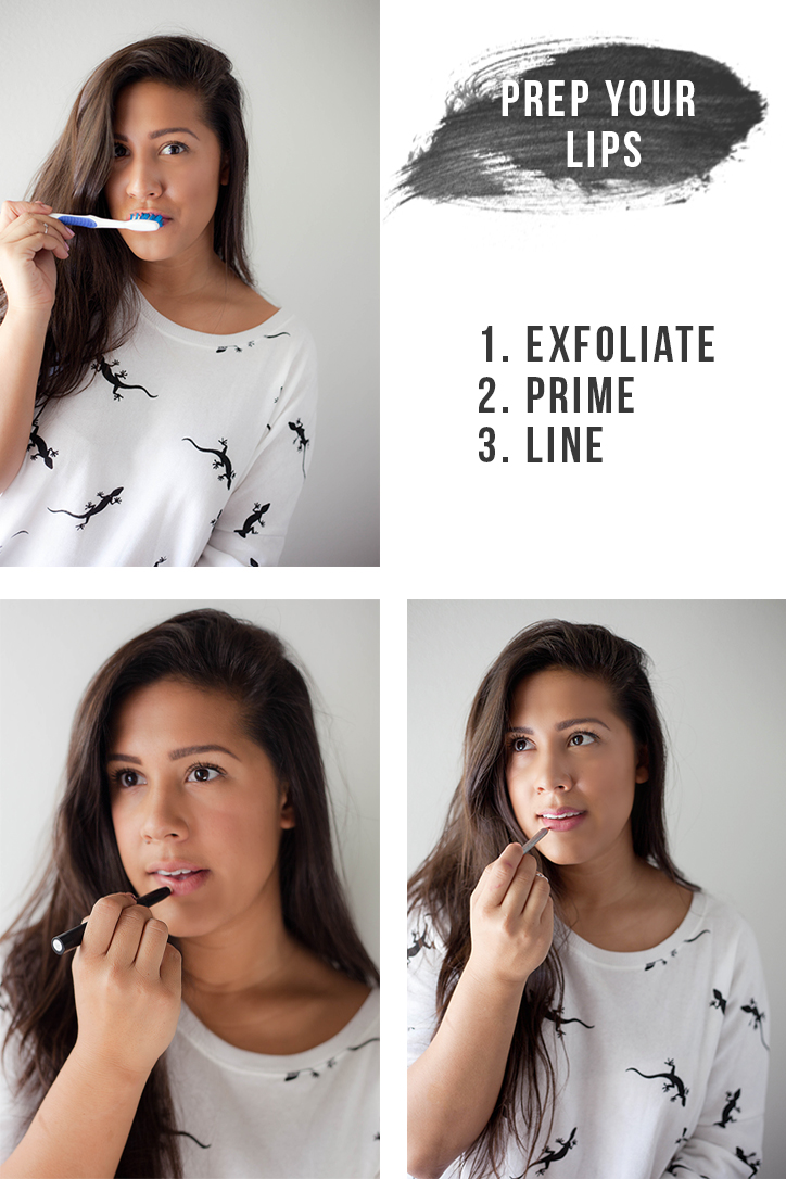 how to prep your lips for lipstick