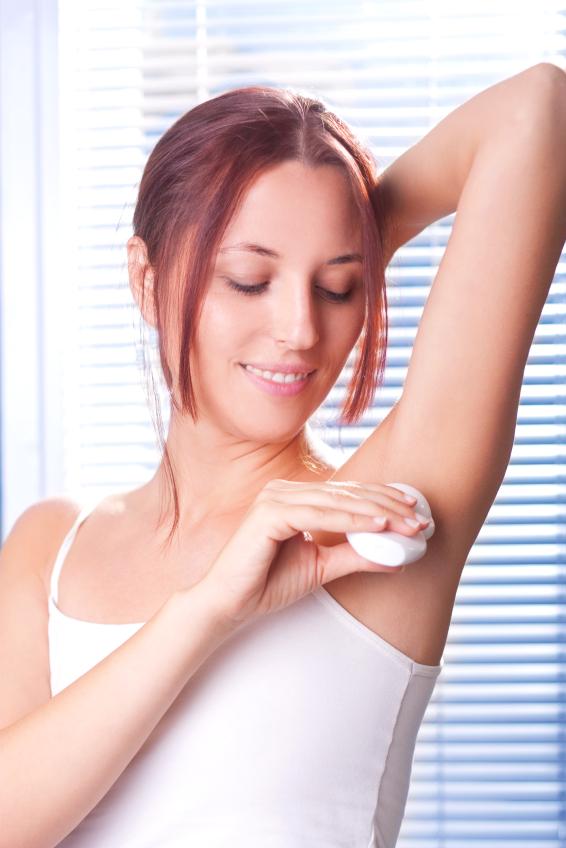 Applying Deodorant