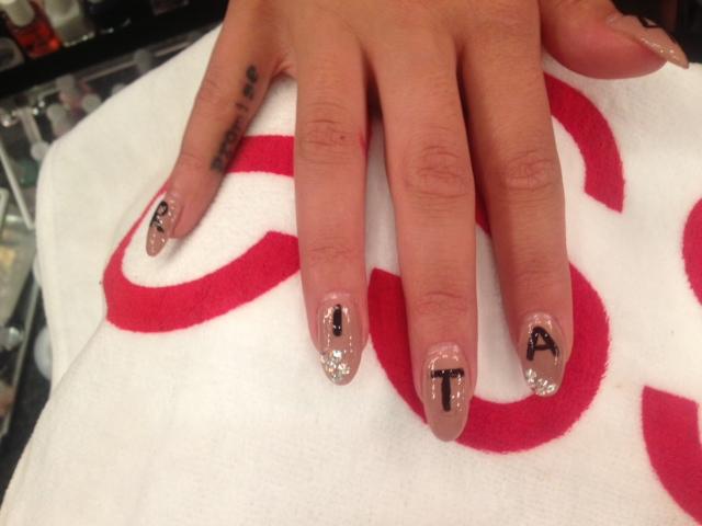 Rita Ora DKNY Nail Art