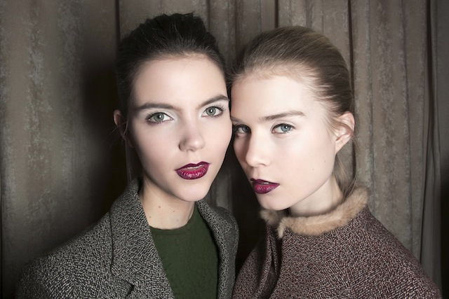 Zac Posen Burgundy Lips Fall 2013