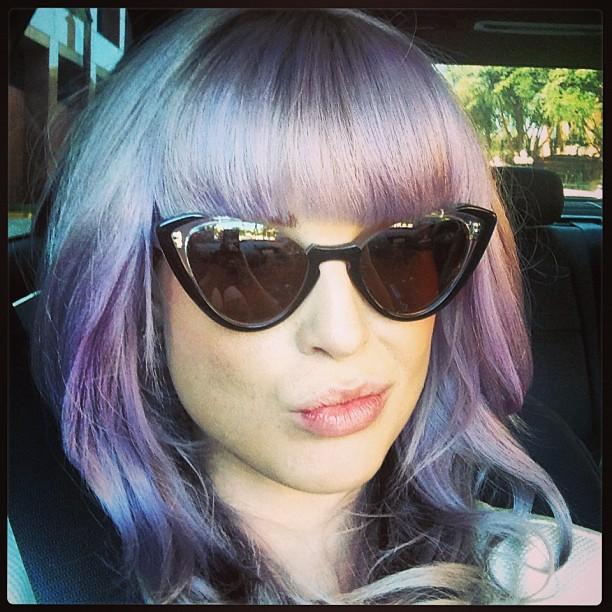 kelly osbourne purple hair