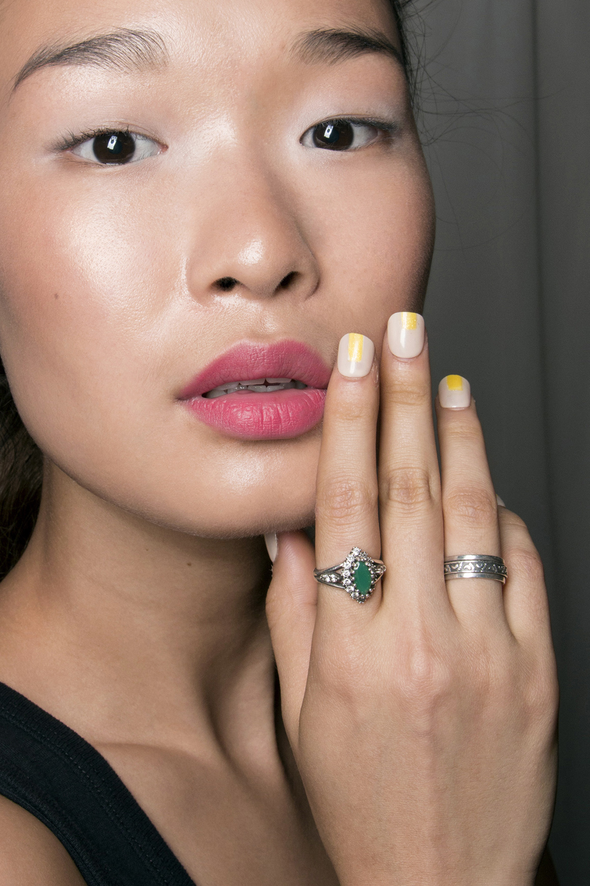 Neutral and neon nails