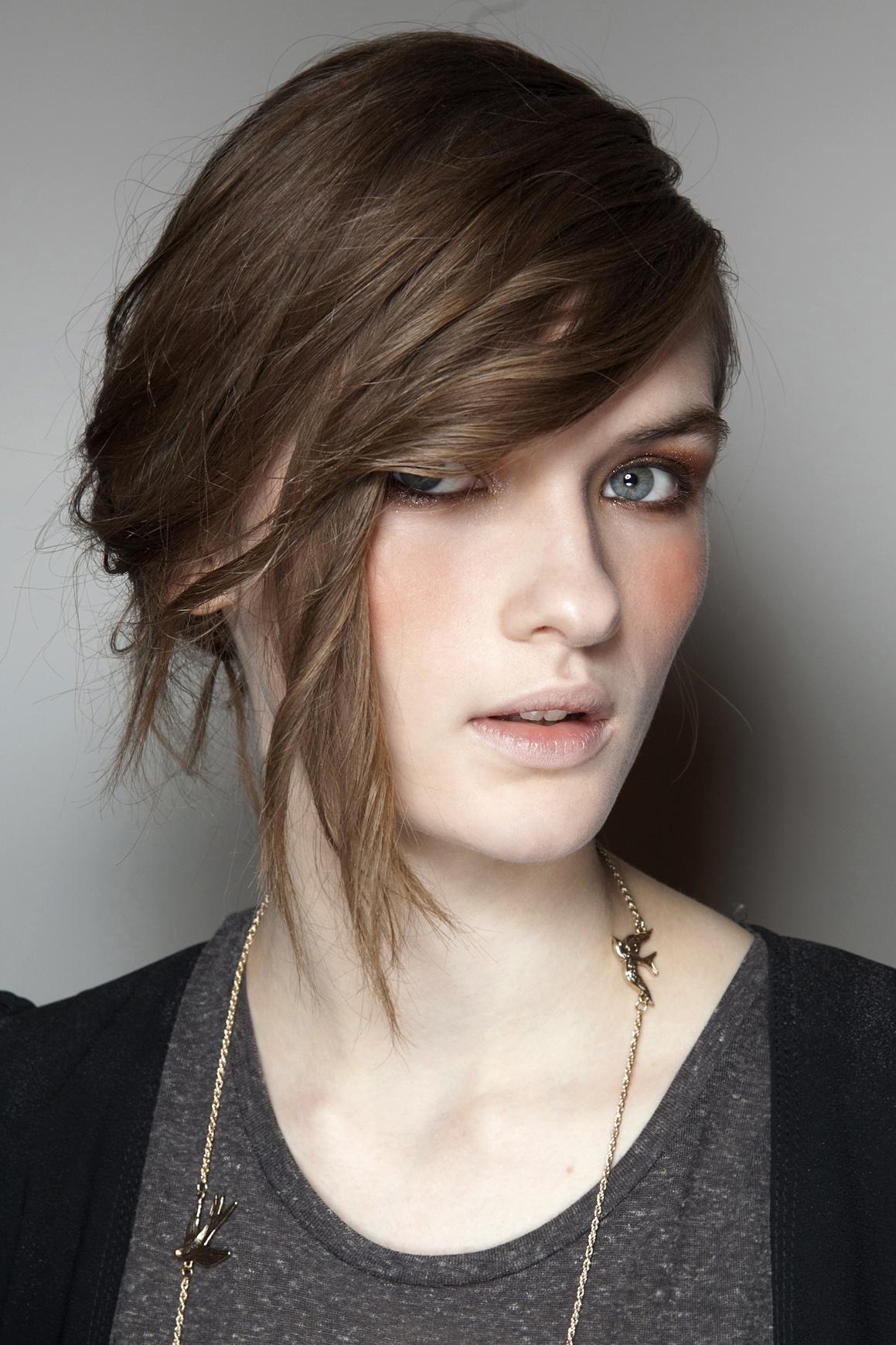 side bun hairstyle