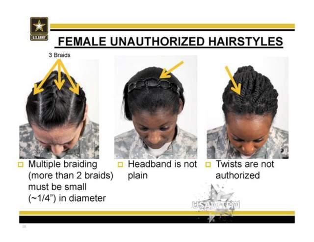 us army hairstyle regulations for black female soliders