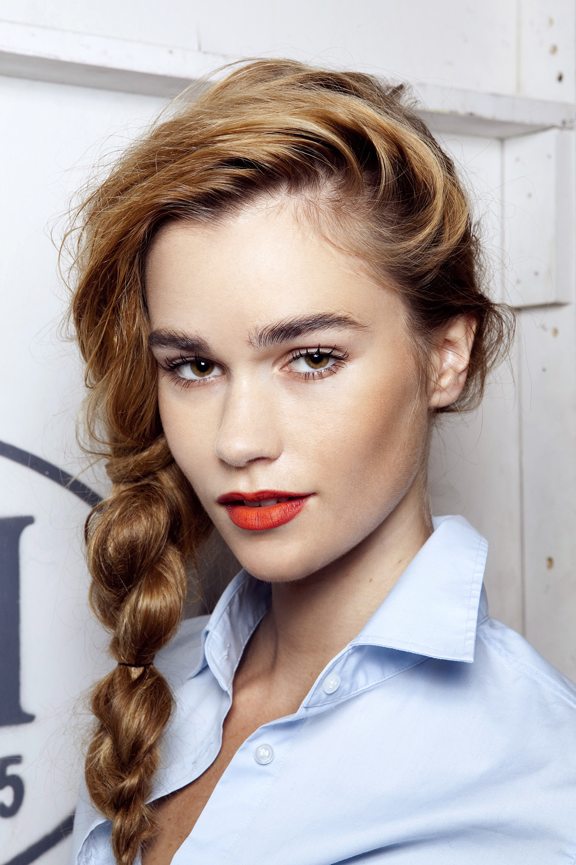 girl with side braid