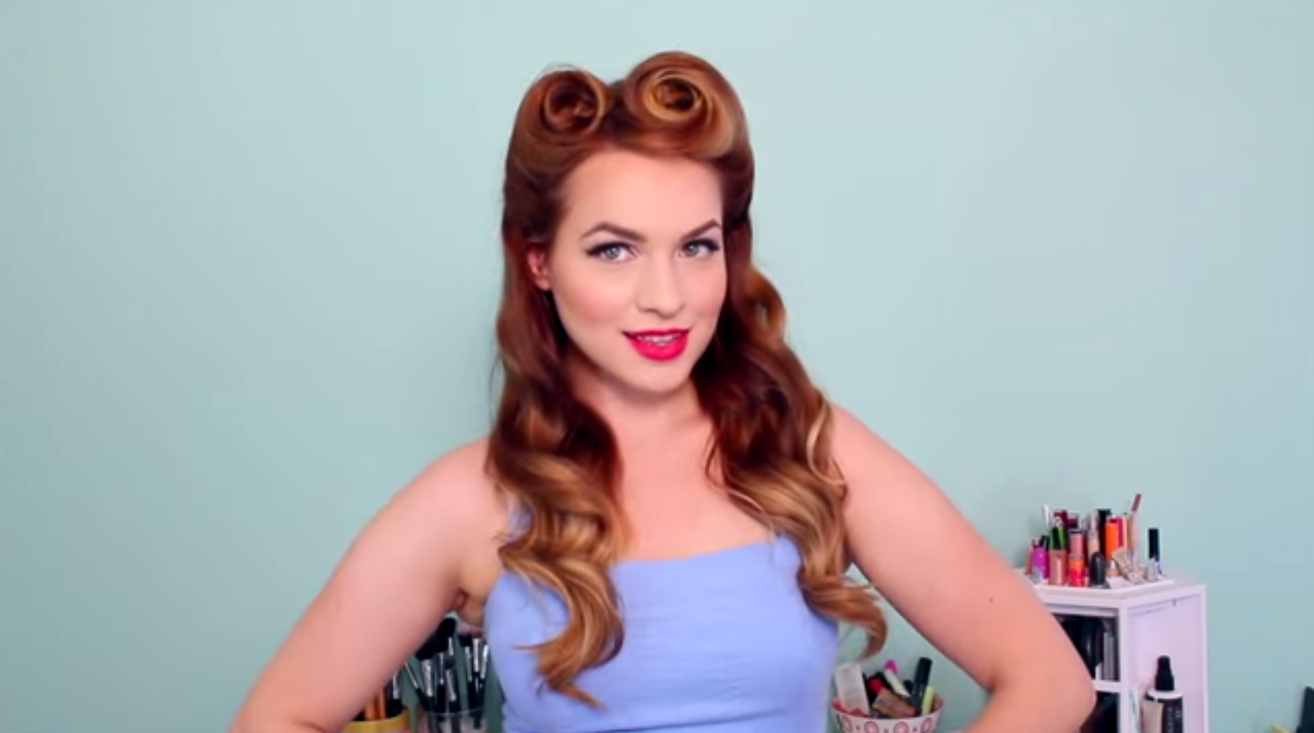 Pin Up Hairstyles Learn How To Style The Look At Home Stylecaster