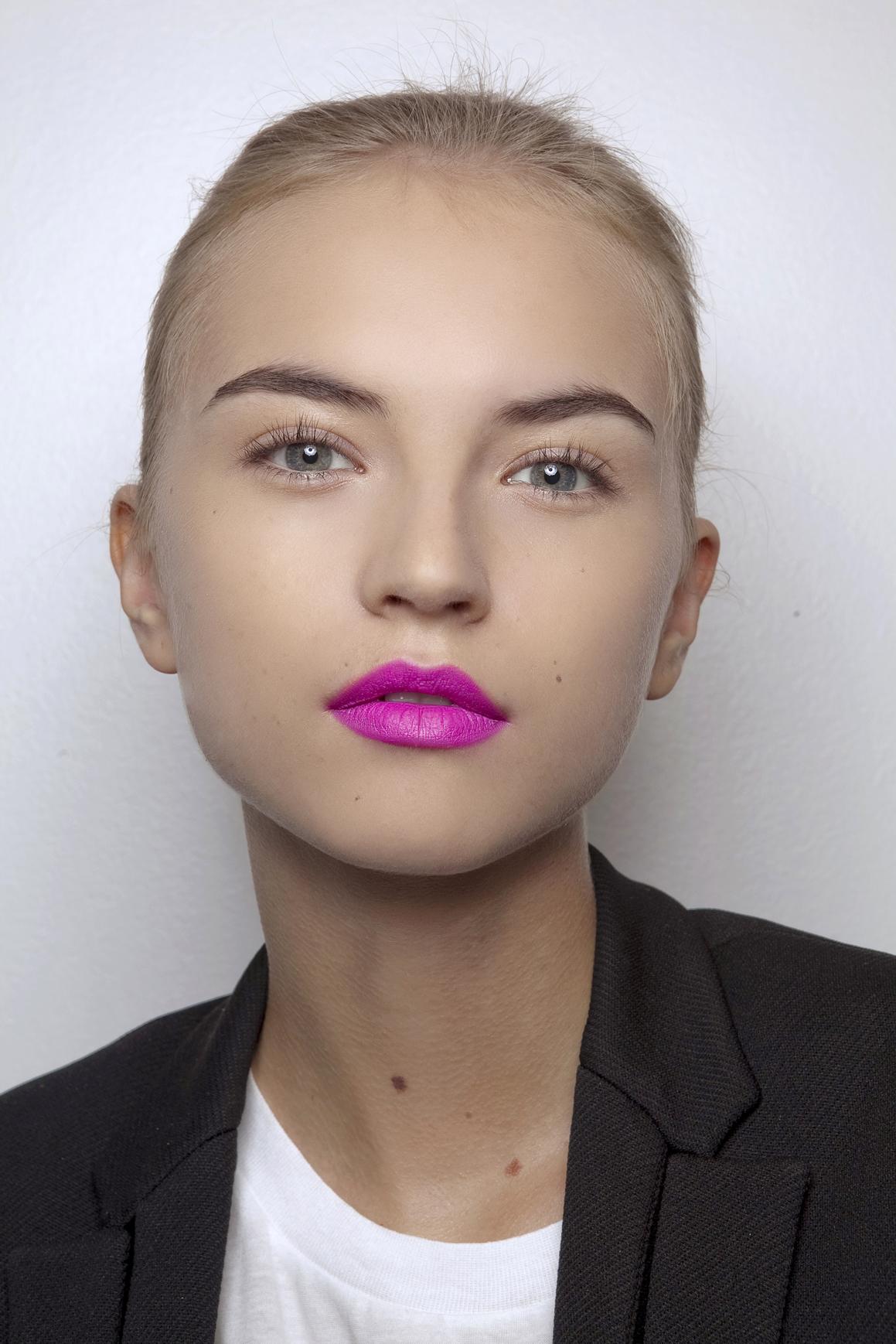 hot pink lipstick