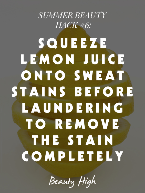 lemon juice for stains