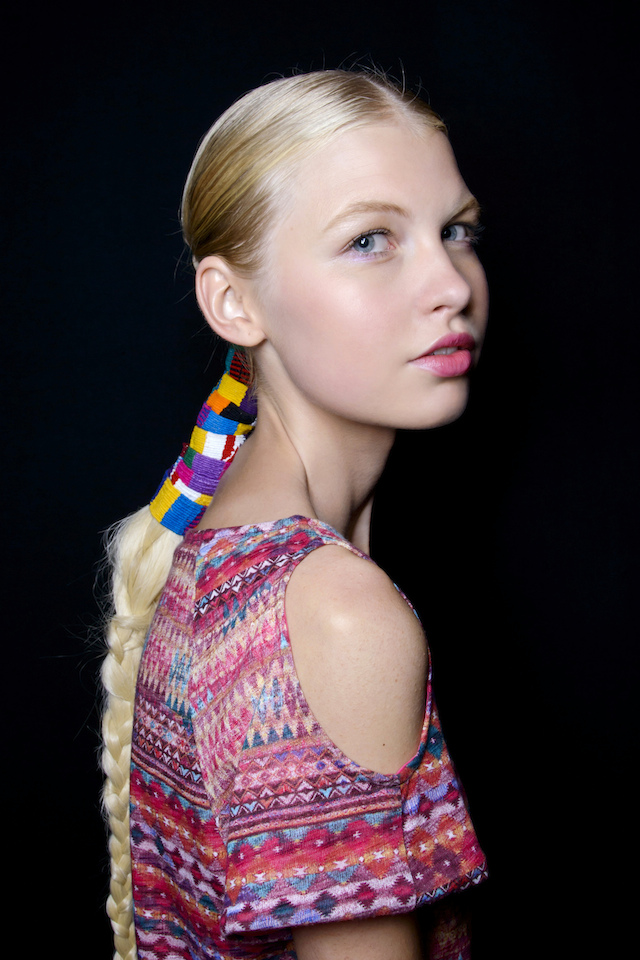Mara Hoffman model with braid