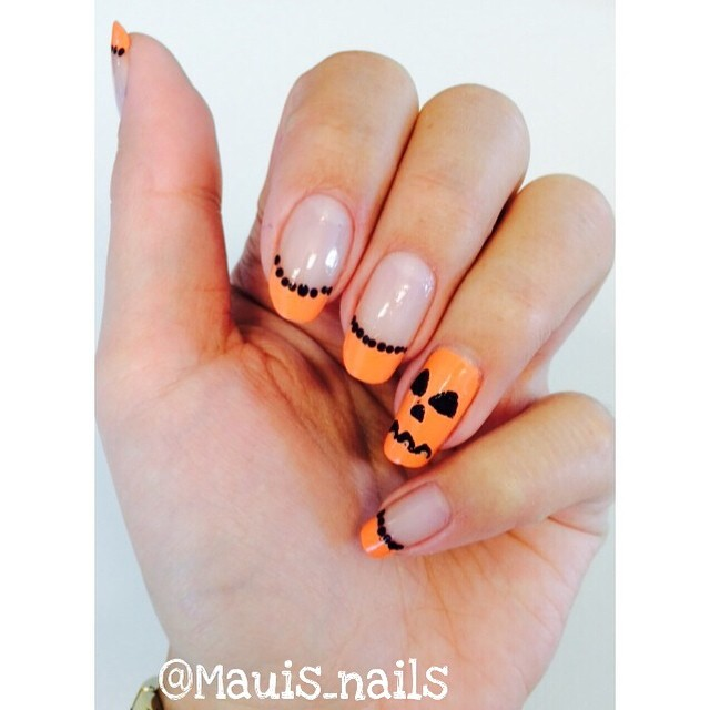 mauis nails Easy Halloween Nail Art You Can Actually Pull Off At Home