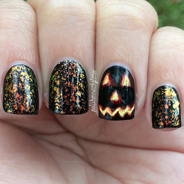 polishmewithglitter Easy Halloween Nail Art You Can Actually Pull Off At Home