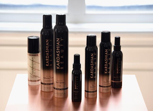 Kim Kardashian West, Khloe Kardashian And Farouk Systems, Inc. Celebrate The Launch Of Kardashian Beauty In NYC - Press Junket