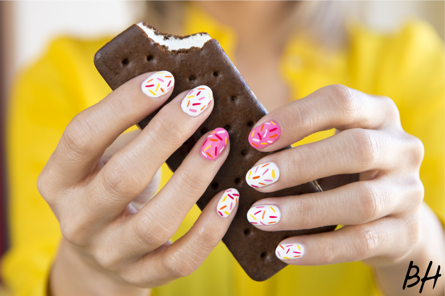How To Get This Delicious Sprinkle Nail Art Stylecaster