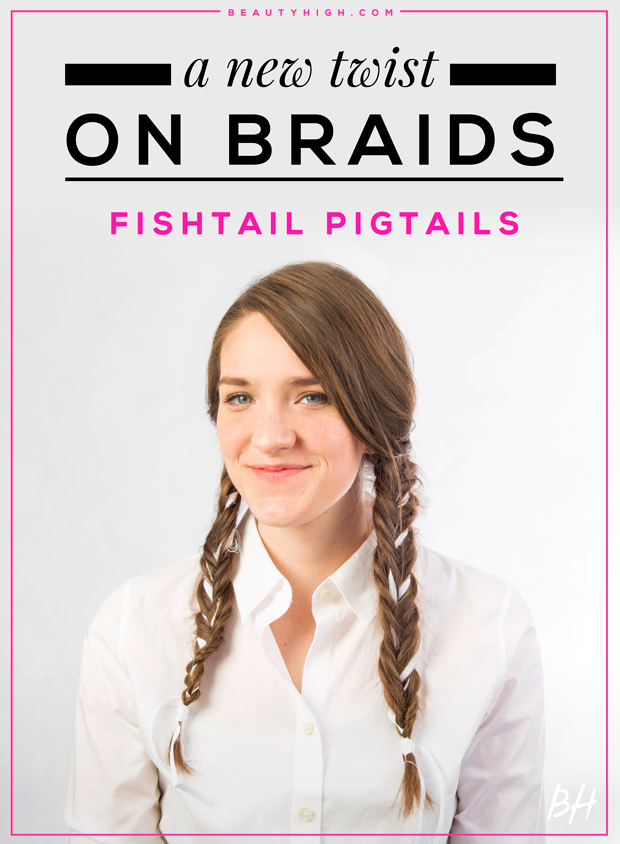 A Gif Hair Tutorial On Fishtail Pigtails Stylecaster