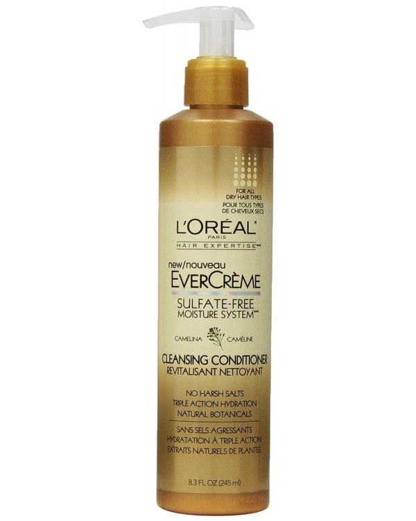 loreal paris evercreme sulfate free moisture system cleansing conditioner Cleansing Conditioners That Could Replace Your Regular Shampoo